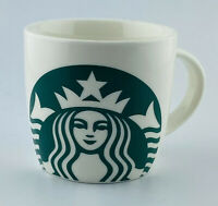 Starbucks 14 oz Ceramic Coffee Tea Mug Cup White Green Siren Mermaid 2017 Mug