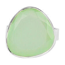 Chalcedony gemstone Ring Size 8 US 5.48 g 925 Solid Sterling Silver