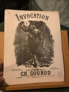 Charles Gounod Invocation Faust contralto / basse piano partition éd. Choudens