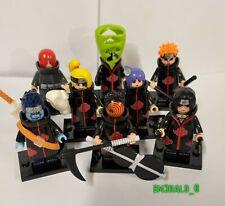Naruto Shippuden Akatsuki Minifigure Lot of 8 building block Manga Itachi