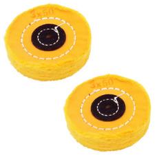 NIUPIKA Yellow Soft Cotton Polishing Buffing Wheel Bench Grinder with Arbor