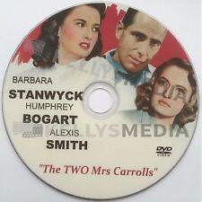 THE TWO MRS. CARROLLS (1947) HUMPHREY BOGART, BARBARA STANWYCK & ALEIS SMITH DVD