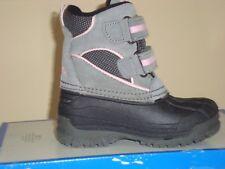 Toddler Girls' Totes Gray & Pink Winter Boots Size 7T 9T Nib Retail $44.99!