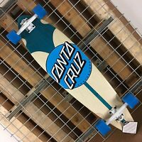 New Santa Cruz Azul Dot Pintail Cruzer Complete Skateboard - 39in x 9.58in