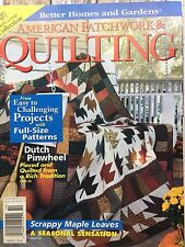 American Patchwork & Quilting Magazine Oct 1998 Scrappy Maple leaves Quilt