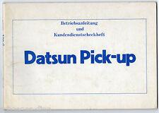 Betriebsanleitung Datsun Pick-up , 1983