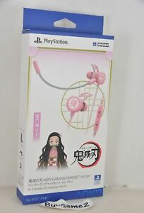 NEW PS5/ PS4/ PC Demon Slayer Gaming Headphones in Ear PINK (Nezuko, HORI)