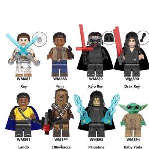 Lego Star Wars Minifigures Yoda Luke Grogu Count Doku Darth Vader Building Toys