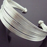 CYF232 GENUINE REAL HALLMARKED 925 SOLID STERLING SILVER CUFF BRACELET BANGLE