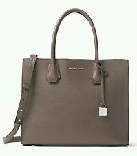 NWT MICHAEL KORS LARGE STUDIO MERCER SATCHEL SHOULDER PEBBLED LEATHER CINDER
