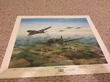D-DAYJUNE 6,1944 -12 D-DAY AIRBORNE PARATROOPER VETERANS RARE MULTI SIGNED PRINT