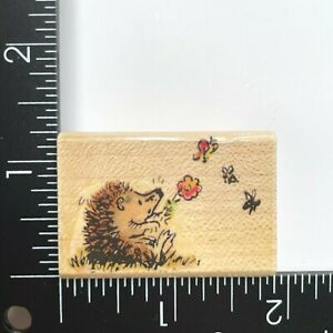 Penny Black Butterfly Hedgehog 375C Wood Mounted Rubber Stamp
