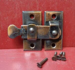 1 NOS MORE AVAIL ANTIQUE SHUTTER BAR JELLY CABINET LATCH 1900's #2A1123