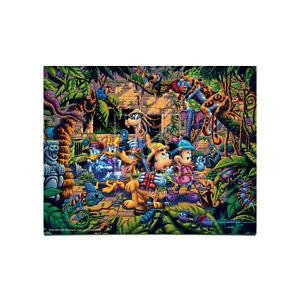 Eric Dowdle Mickey & Friends Exploring the Jungle 11 x 14 Art Print