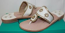 Jack Rogers Nantucket Gold Navajo Women's Sandals white/gold New With Box!
