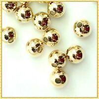 Light Gold Plated Round Ball Spacer Findings Jewelry Making 3mm 4mm 5mm 6mm