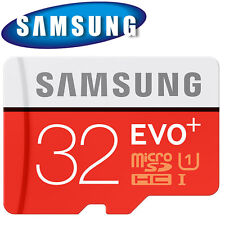 GENUINE Samsung EVO+ 32GB Micro SDHC C10 Flash Memory Card w/ SD Adapte ORIGINAL