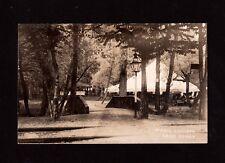 Postcard Lake Carey Pa Picnic Grounds Tent Near Tunkhannock Wyoming County