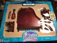 Petite Dreams Dollhouse Furniture Music Room Piano Violin Miniatures. L12