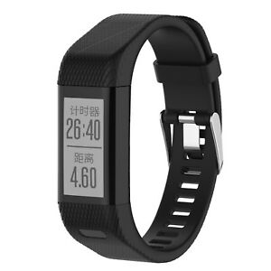 Ersatz Armband für Garmin Vivosmart HR Plus Fitness Tracker HR+ Schwarz Silikon