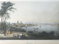 Original Stahlstich Mainz J. J. Tanner um 1850