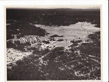 Canyon Village Yellowstone Park Bird Eye View Vintage B&W Photo by Hal Rumel