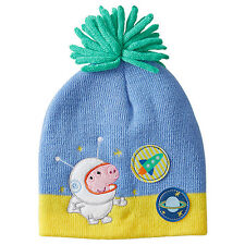 445eaeb600f NWT Peppa Pig Licensed Boys George Astronaut Rocket Saturn Beanie Size 4-6  years