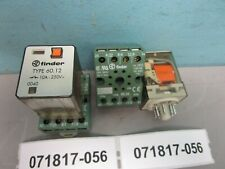Lot of 2 Finder Type 60.12 Relay With Base 90.26