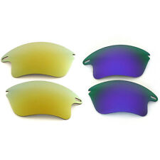 New Walleva Polarized 24K Gold + Purple Lenses For Oakley Fast Jacket XL