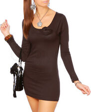 """New Collection - Nice Tunic Mini Dress with Rose """"Alisa"""" 4009"""