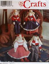 """Western Cowboy Bunny Rabbit pattern 23"""" boy girl greeter doll"""