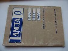 LIBRETTO USO E MANUTENZIONE LANCIA BETA 1300 1600 2000 ED. 12/1975