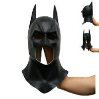 The Dark Knight Batman Full Face Adult With Cowl Cosplay Rises Batman Prop Latex