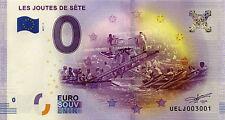 BILLET EURO 2017 ZERO 0 € SOUVENIR SÈTE LES JOUTES  PAS BANKNOTE MONNAIE