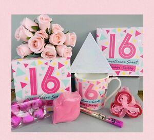 GIRLS 16th BIRTHDAY PAMPER HAMPER GIFT SET BOX HER BIRTHDAY DAUGHTER FRIEND SIS