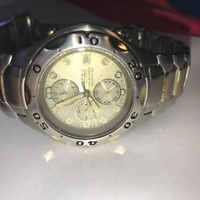 Citizen GN-4-S Solar-Tech Chronograph Watch. VG Condition! 40mm