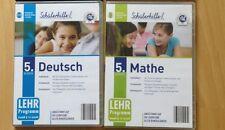 2 x Schülerhilfe Deutsch und Mathematik 5. Klasse Lernsoftware CD-ROM PC