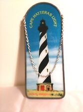 "Sun Catcher, Lighthouse, Cape Hatteras No.Carolina, 11"" H X 4"" W, Hand Painted"