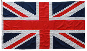 Union Jack flag MoD approved traditional sewn 5x3ft size outdoor rope toggled UK