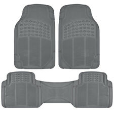Car Floor Mats All Weather Semi Custom Fit Heavy Duty Trimmable Gray 3PC