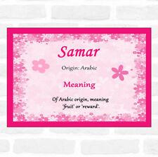 SAMAR nom signifiant ROSE Certificat