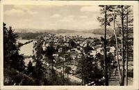 Kácov okres Kutná Hora Tschechien s/w  AK 1957 Gesamtansicht Panorama mit Fluss
