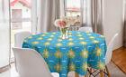 Runde Tischdecke Chic Party für Geburstag Sommer Sunny Day und Wolken Muster