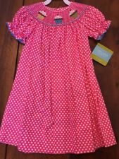 Velani Classics Girl's Smocked Cupcake Bishop Dress Size 2T