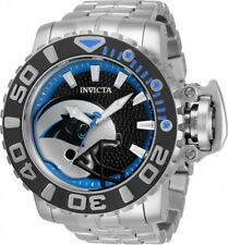 Invicta 70mm NFL Sea Hunter GEN II CAROLINA PANTHERS Automatic Silver SS Watch