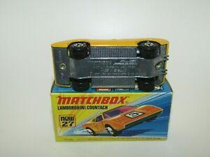 Matchbox Superfast No 27 Lamborghini Countach Yellow UNPAINTED Base NMIB HTF