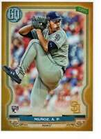 Andres Munoz 2020 Topps Gypsy Queen 5x7 Gold #262 /10 Padres