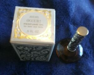 Vintage Avon Mini Occur Perfume Oil 0.5 Fluid oz Genie Bottle Made in USA NIB