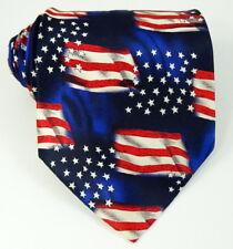 Patriotic Silk Tie US American Flag Stars Necktie