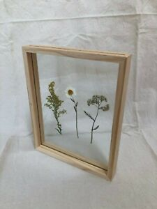 DOUBLE SIDED GLASS WOODEN PICTURE FRAME - PRESSED FLOWERS, PHOTOS 21CM X 26CM